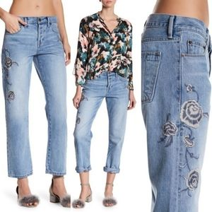 Current/Elliott Crossover Embroidered Jeans 28